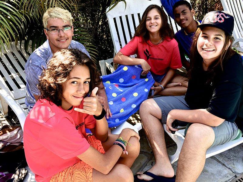 Adolescentes precisam acampar