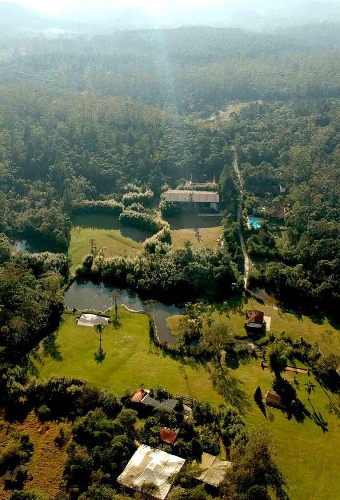 Vista aérea acampamento Águias da Serra em SP