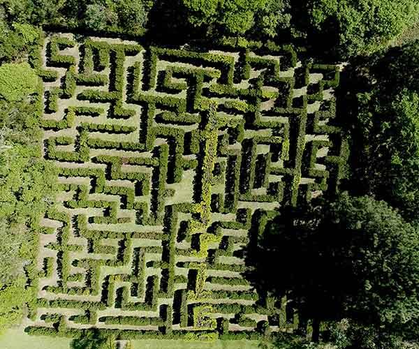 labirinto gigante do acampamento Águias da Serra