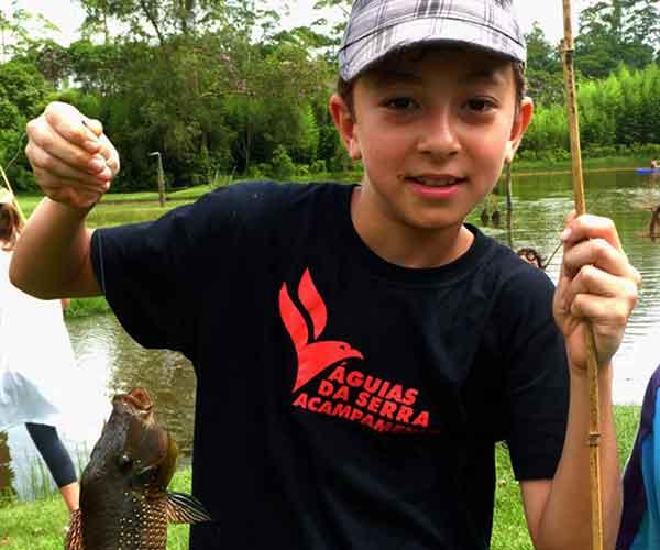 Pesca esportiva infantil